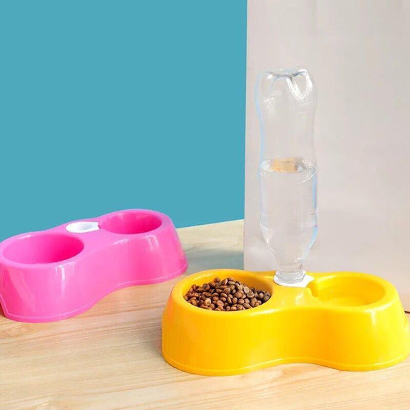 2 in 1 Pet Automatic Water Feeder Food Bowl
