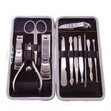 12 Pieces Manicure and Pedicure Set with Leather Case