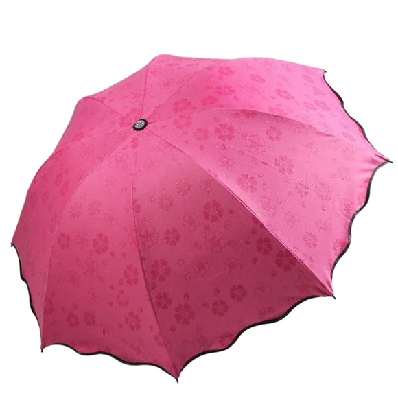 Magic Folding Sun/Rain Windproof Flowering Umbrella