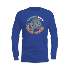 Cooking With Rock Stars Logo Long Sleeve Shirt - Midnight Blue