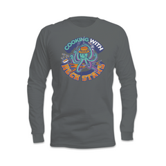 Cooking With Rock Stars Logo Long Sleeve Shirt - Dim Grey