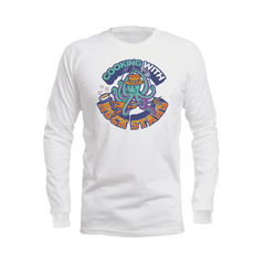 Cooking With Rock Stars Logo Long Sleeve Shirt - White