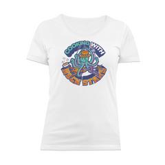 Cooking With Rock Stars Logo Women's T-Shirt - White