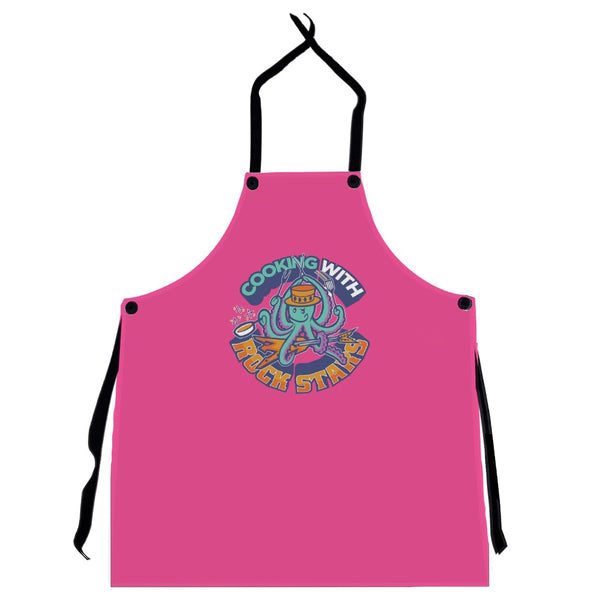 Cooking With Rock Stars Logo Apron - Pink