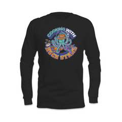 Cooking With Rock Stars Logo Long Sleeve Shirt - Black