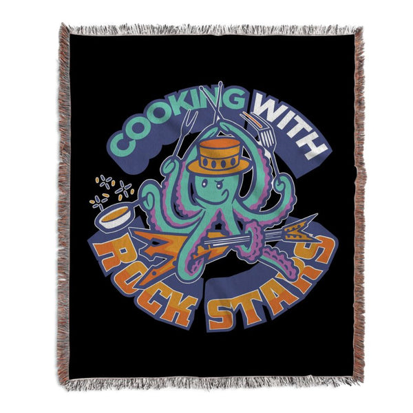 Cooking With Rock Stars Logo Woven Blanket