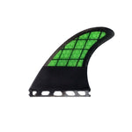 Set 3 Carbon Square Honeycomb G5 Fins / Futures System