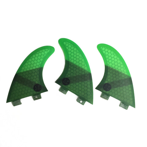 Set 3 Fins Surf Honeycomb Fiber G5