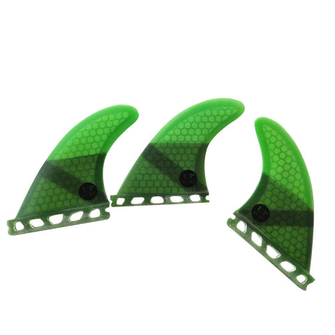 Set 3 Fins Honeycomb Fiber G5 / Futures System