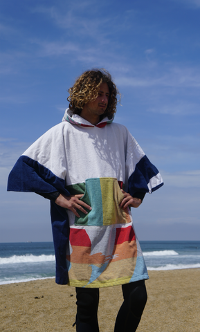 "Poncho Anfibi Upcyclé ""Flying Bird"""