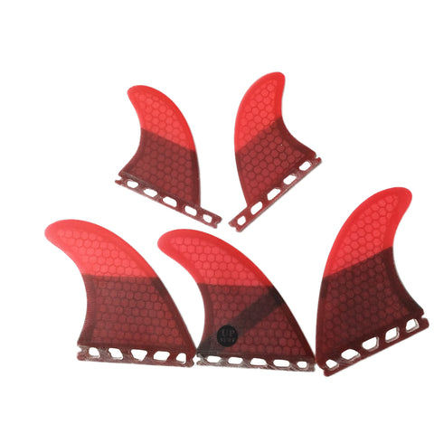 Set 5 Fins Honeycomb Fiber Pack Thruster + Quad /G5 + GL / Futures System