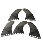 Set 5 Dérives Honeycomb Fiber pack Thruster + Quad / K2.1 / Montage Future