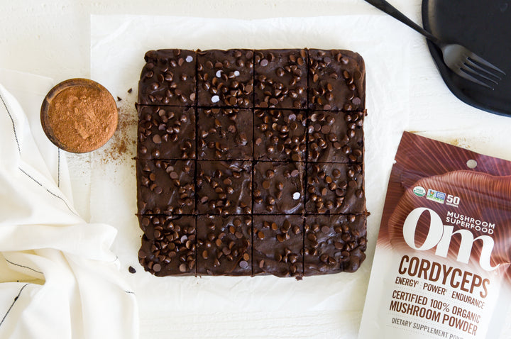 Flourless Double Chocolate Brownies w/ Cordyceps