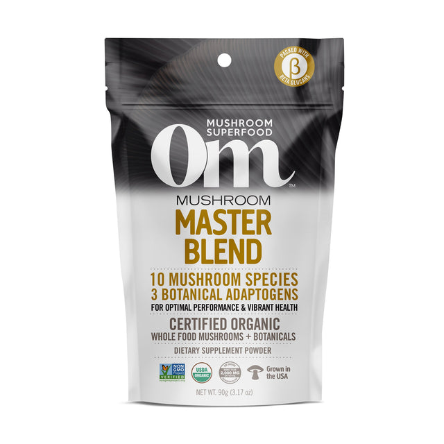 Master Blend Organic Mushroom Powder 32 servings / 90 grams