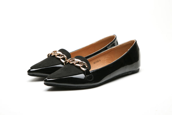 MilaLady - Arlene | Patent Leather Pointed Toe Ballet Dress Shoes for Women