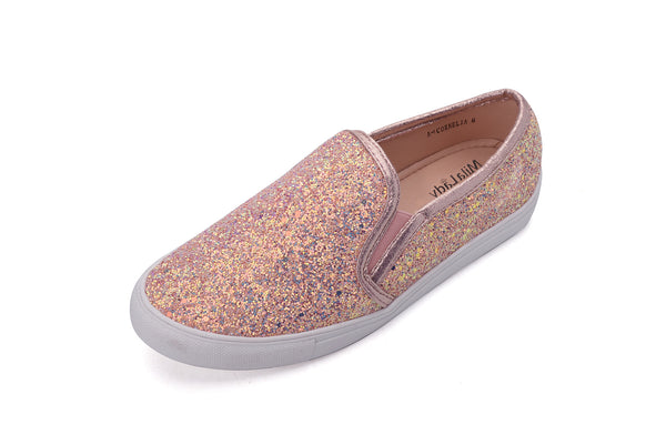 Mila Lady Cornelia Women Canvas Slip On Tribal Pattern Fashion Sneakers