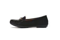 Mila Lady Perforated Comfortable Cushioned Insole Slip On Loafer Moccasins Flats Driving & Walking Shoes for Women