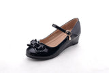 Mila Girls Toddler & Little Girls Mary Jane Low Heel Wedges Pumps Party Dress Shoes (Jodie2)