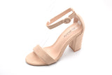 Mila Lady Ankle Strap Buckle Chunky Heeled Sandals Shoes with Soft Padded Insole for Women LULA