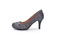 Mila Lady MAYRA06 Sparkle Crystal Rhinestone Glitter Formal Pumps Wedding Shoes
