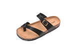 Mila Lady Womens Summer Comfortable Strappy Flip Flops Cork Sole Slide Flat Sandals VANESSA