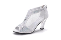 Mila Lady Women's Lexie Crystal Dress Heels Low Heels Wedding Shoes M-KIMI26
