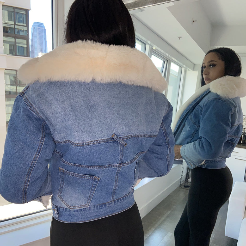 Royale Denim Fur Jacket