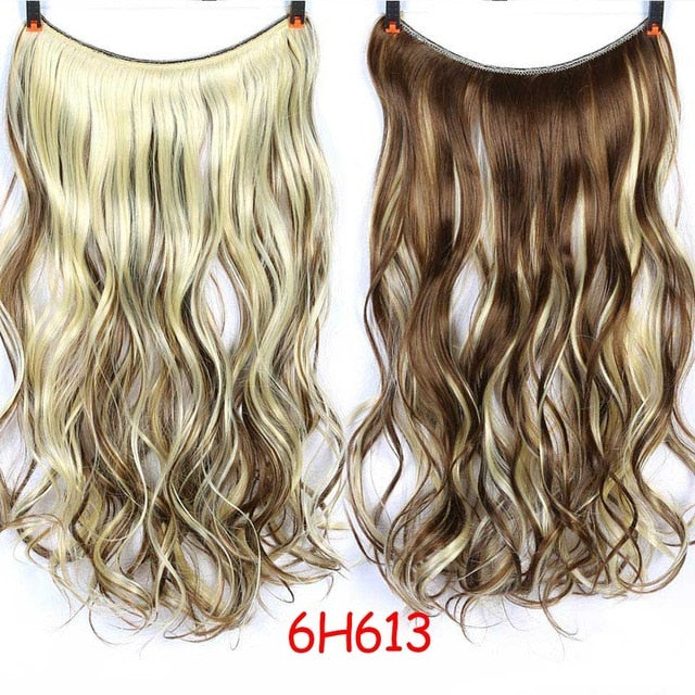 Premium Halo - Haarband Extensions in traumhaften Farben