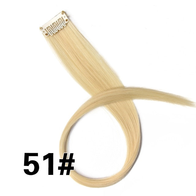 Farbige Clip in Highlight Haarextensions