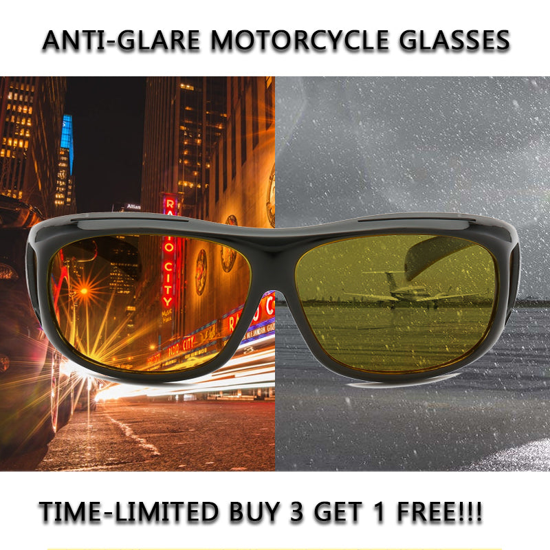 Anti-Glare Motorcycle Glasses Unisex & one size fits all