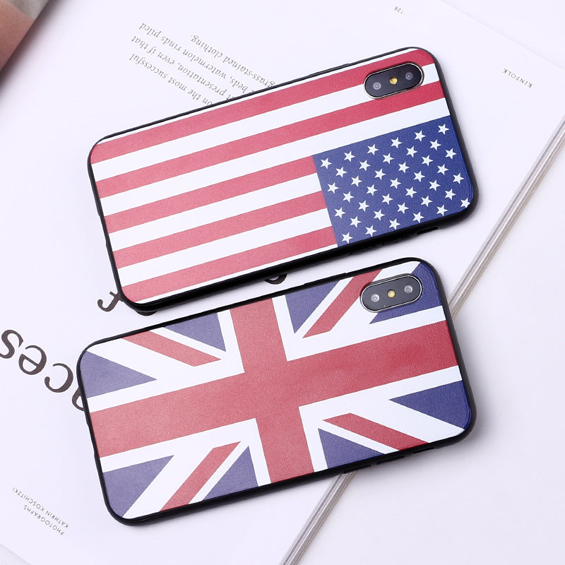 Nano Waterproof Dustproof National Flag Phone Cases