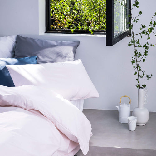 photo 2 housse de couette percale rose insitu