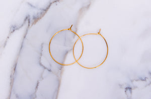 24k gold wire hoops earring By Gabrieli Couture. Minimalist earrings, wire earrings, Small hoop earrings, Thin hoops earrings, gold jewelry