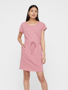 April Tshirt Dress in Dusty Rose