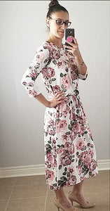 Easy Breezy Floral Dress - Ivory
