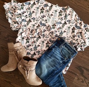 Forever ruffled floral top