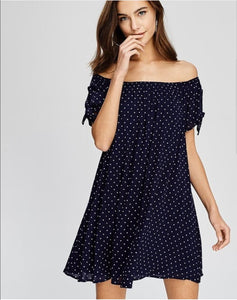 Alison polka dot dress in black