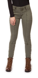 Not so Cargo, Cargo Skinnies - in Military Green