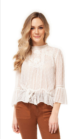 Lacey Peasant Blouse