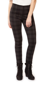 Black Check Leggings