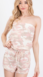 Pretty in Pink Camo Romper