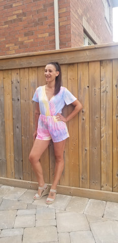 Too Cute tie dye romper