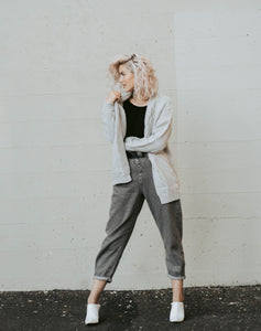 That Cozy Cardi in soft gray