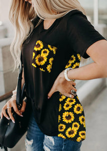 Sunflower pocket tee