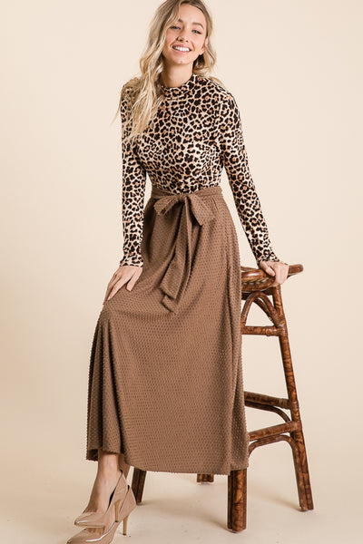 Chic in Leopard Dress