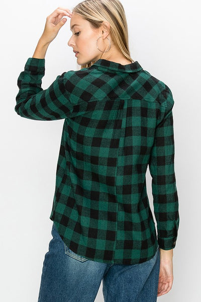 Hunter Plaid Blouse