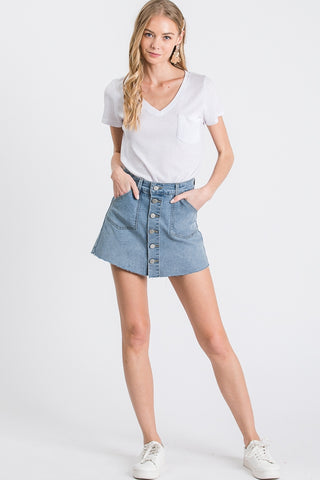 Brooklyn Button Skort