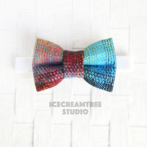 Flannel Adventure Awaits Bow Tie - Pet Bow Tie