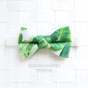 Tropical Green Leaf Bow Tie - Pet Bow Tie
