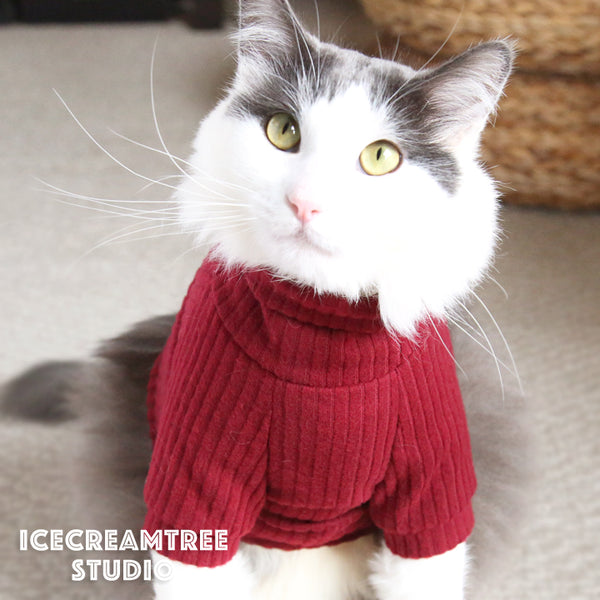 Grandma Sweater Look Outfit Set - Pet Clothing